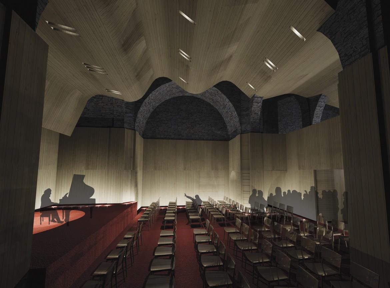 Vista interior iglesia / auditorio