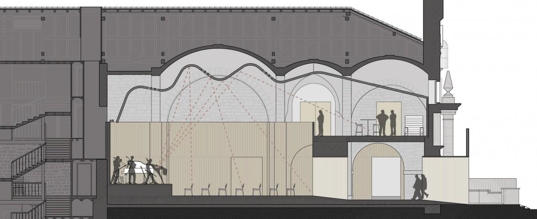 Sección iglesia / auditorio