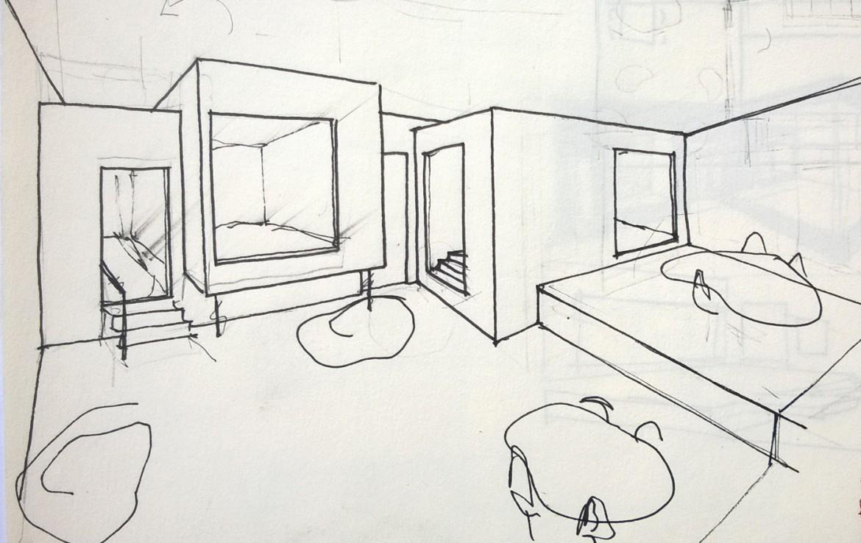 Boceto interior alternativo